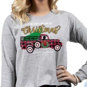 Simply Southern Buffalo Plaid Christmas Truck Tee